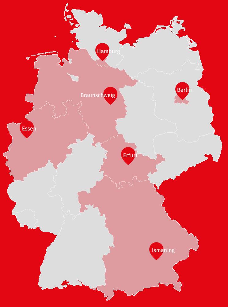 Das Verbreitungsgebiet der FUNKE MEDIENGRUPPE