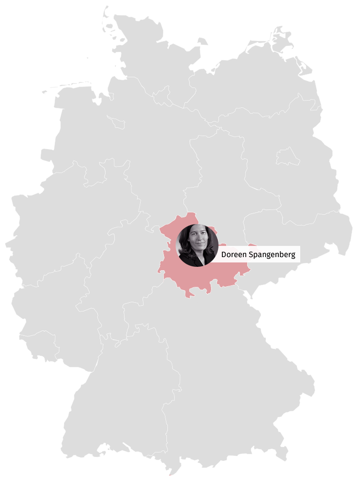 Karte Veranstaltungskaufleute Deutschland Erfurt